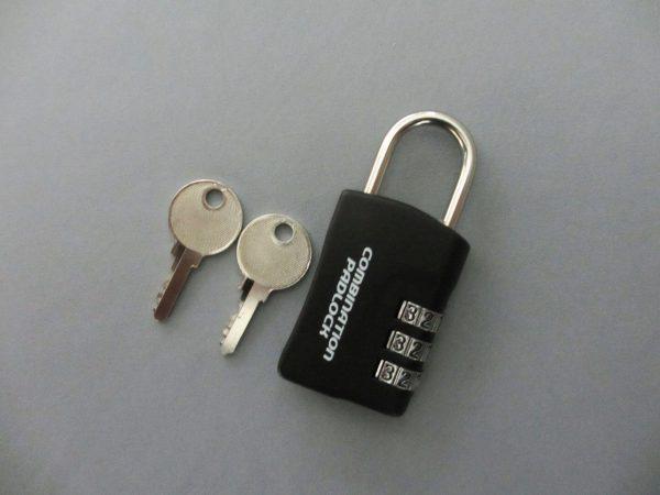 暗証番号リセット機能付 コンビネーションパドロックRK 3DIALS