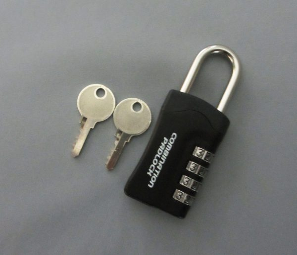 暗証番号リセット機能付 コンビネーションパドロックRK 4DIALS