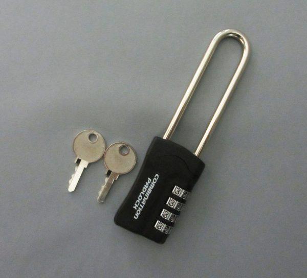 暗証番号リセット機能付 コンビネーションパドロックRK 4DIALS ツル長