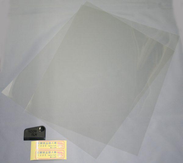 透明ガラス専用 防犯フイルム 40x90㎝ 2枚入