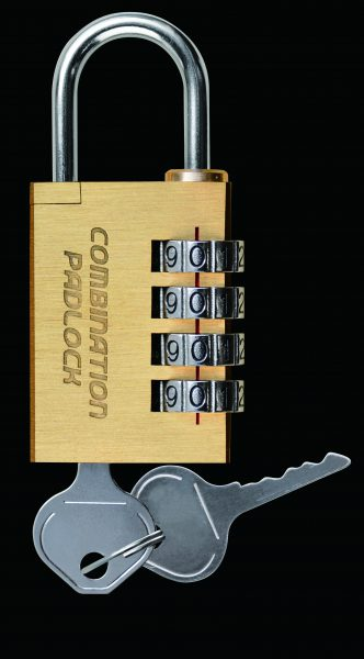 緊急開錠キー付 コンビネーションパドロックEK 4DIALS